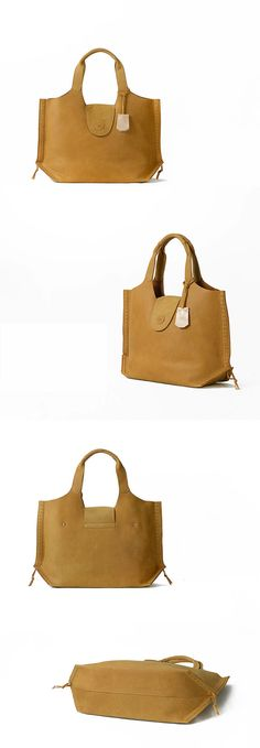 Hey, I found this really awesome Etsy listing at https://www.etsy.com/listing/193441430/leather-tote-bag-yellow-extra-large