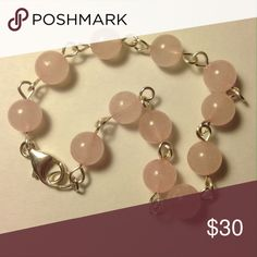🌜 Feminine, airy rose quartz bracelet A MoonbeamDaydream design, bubble gum pink rose quartz imparts universal love as well as self love. 💕😊 Strung on silver-plated copper wire with sterling silver lobster claw clasp. MoonbeamDaydream Jewelry Bracelets
