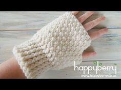 Zig Zag Puff Stitch Finger less Gloves - Crochet Tutorial - YouTube