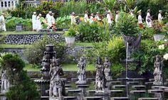 Tirta Ganga, A Water Park in the Kingdom of Karangasem, Bali. Indonesia