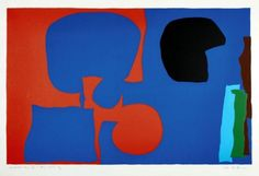 Patrick Heron - Winchester Four, Plate IV: May 67 Patrick Heron, Colour Pallette, Organic Shapes, Winchester, Ph, Collage, Plate, Board, Artist