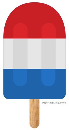 Print this fun red white and blue patriotic popsicle banner for the 4th of July or Memorial Day or just a fun summer decoration. Summer Crafts For Kids, Summer Kids, Memorial Day Decorations, 4th Of July Games, Fun Bucket, Free Printable Banner, Paper Trail, Baby Sprinkle, Party Themes