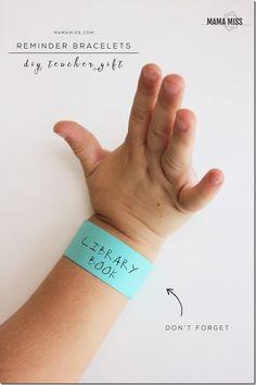 diy classroom: Reminder Bracelets