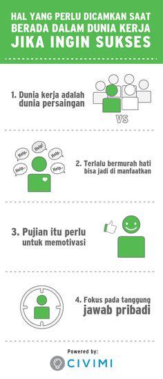 4 Hal yang Perlu Dicamkan Saat Berada dalam Dunia Kerja Jika Ingin Sukses (Infographic)