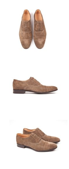 Heschung - Men spring summer collection - Oxford Malus - Velours G Taupe #SS15 #Heschung