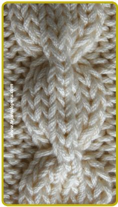 Trenza u ocho cadena . pinning several pictures of cables from this information-rich webpage Cable Knitting Patterns, Knitting Basics, Knitting Stiches, Knitting Videos, Lace Knitting, Knitting Designs, Knit Patterns, Crochet Stitches, Stitch Patterns