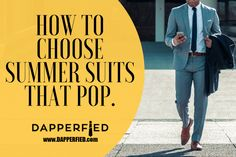We're talking summer suits and a few ideas on how to keep you looking sharp in them! Summer Suits, Best Mens Fashion, Fashion Advice, Men's Style, Dapper, Pop, Male Style, Summer Outfits, Manish Style