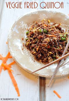 Veggie Fried Quinoa | 32 Ways To Eat Quinoa And Succeed In Life