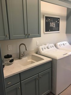 Laundry Room With Bertch Cabinets In A White Thermofoil Door
