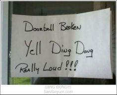 I'm going to try this ( even though my doorbell IS working)    Sanitaryum | Clean Funny Pics & Clean Humor
