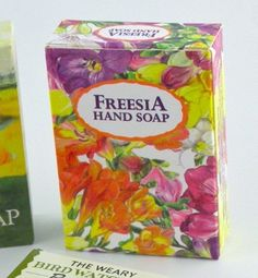 5 Freesia Scented Herbal Soap Bars, Imported from England, CLOSEOUT, Bulk Sale of 5 Bars per Order by Master Herbalist of England. $10.00