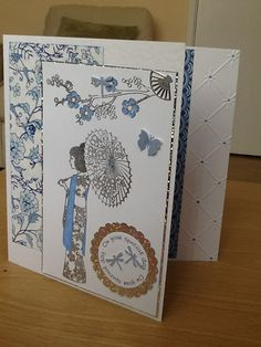 Asian Crafts, Paper Art, Paper Crafts, Tattered Lace Cards, Painted Bags, Japanese Paper, Congratulations Card, Card Making Inspiration, Custom Cards