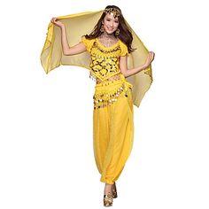 Belly Dance Dancewear Women's Chiffon Tassels Outfits Including Top, Bottom, Belt, Gauze Kerchief(More Colors) – JPY ¥ 2,667