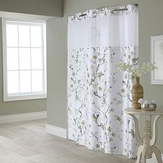 Cherry Blossom 2-pc. Fabric Shower Curtain & Liner Set