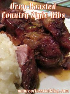 Oven Roasted Country Style Ribs and a Cookbook and Spice Giveaway~ Moore Or Less Cooking Food Blog