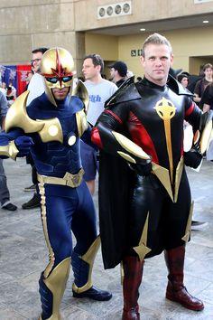 Cosplay Captain Marvel & Nova - Gaurdians of the Galaxy