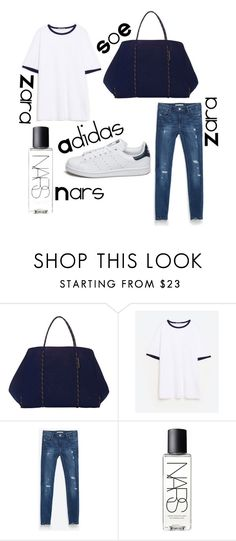 """local market visit"" by florabugan ❤ liked on Polyvore featuring adidas, Zara and NARS Cosmetics"