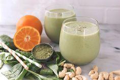 Orange Matcha Smoothie {Gluten-Free + Vegan} | Free People Blog #freepeople