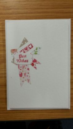 Simple best wishes card
