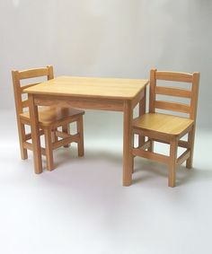This Sahara & Natural Just for Kids Table & Chairs Set is perfect! #zulilyfinds