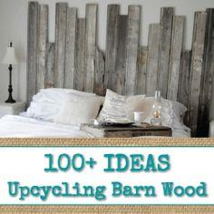 100+ Ideas for Upcycling Barn Wood - www.reincarnationsart.com
