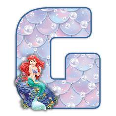 Alphabet, Disney Scrapbook, The Little Mermaid, Ariel, Kids Rugs, Halloween, Frame, Decor, Mermaid
