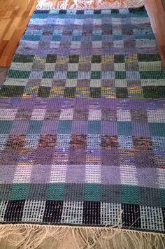 Rya Rug, Sampler Quilts, Recycled Fabric, Woven Rug, Fiber Art, Recycling, Weaving, Carpet, Textiles