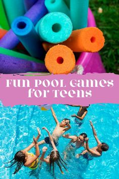 Totally Fun Pool Games for Teens + Tweens - Peachy Party Tween Party Games, Summer Party Games, Summer Pool Party, Birthday Party For Teens, Teenage Pool Party, Teen Pool Parties, Pool Party Games, Fun Games, Games To Play