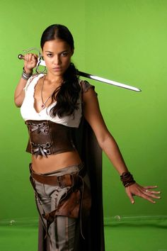 Yet another possible idea for costume -Michelle Rodriguez (no idea what movie this is from?)