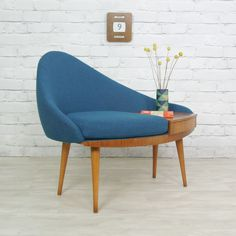 Vintage 1960s Chippy Heath Telephone Seat. how come our telephone table was never this cool. [mustardvintage]