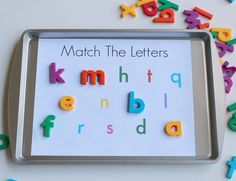 5 Ways To Use Magnetic Letters & Free Printables