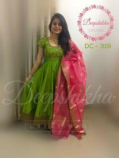 I like this salwars how to buy this Long Gown Dress, Saree Dress, Long Frock, Frock Dress, Dress Skirt, Kalamkari Dresses, Ikkat Dresses, Sari Blouse Designs, Dress Neck Designs