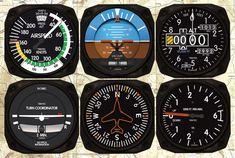 TRINTEC AVIATION INSTRUMENT COASTERS - SET OF 6 from Pilotshop.com