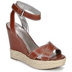 55% OFF These Guess wedge sandals for summer! CLICK TO BUY with free delivery from @spartoouk ! #shoes #sandals #summer #sale #outlet