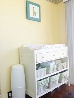White Changing Table in Yellow Nursery - Project Nursery