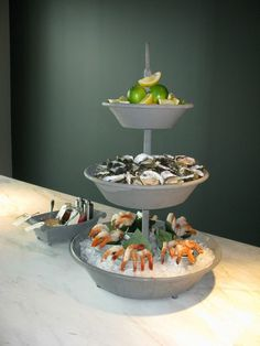Corporate event / catering, seafood buffet, catering by Bay Leaf Catering