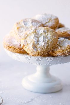 Almond Cloud Cookies Recipe - really great, easy chewy cookie. Can make the whole thing in the food processor.