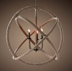 Rope Planetarium Chandelier from Restoration Hardware. OMG, I want this for my dining room.