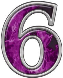 Reflective Number 6 with Inferno Purple Flames :: Inferno Purple Reflective Vinyl Lettering and Numbering :: Letters and Numbers :: Weston Signs Inc. Fashion Show Images, Cool Numbers, Spiritual Eyes, Number Art, All Things Purple, Purple Stuff, Thing 1, Blue Flames, Alphabet And Numbers
