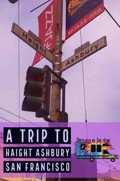 San Francisco's Haight Ashbury is best known for musical history, hippies, colorful shops full of tie dye, and street art San Francisco Vacation, San Francisco Shopping, San Francisco Travel, Travel Usa, Travel Tips, Time Travel, Budget Travel, Haight Ashbury, Us Road Trip
