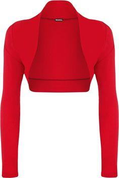 WearAll - Boléro cardigan à manches longues - Hauts - Femmes - Tailles 36 à  42 a39750470bc0