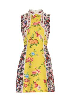 Amore floral-print silk and cotton-blend dress | Mary Katrantzou…
