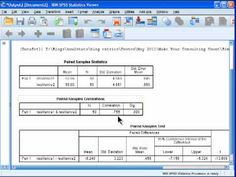 Paired Samples t-test - SPSS - YouTube
