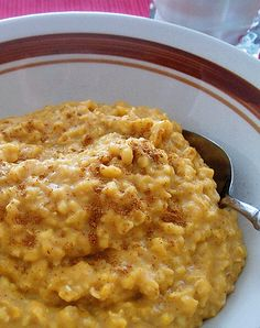 Pumpkin Pie Oatmeal. The flavors and aroma of pumpkin pie in a 2 minute breakfast dish..