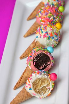 "Mini Cake Pop Cones ""Like"" us on Facebook to learn how to make these cuties"