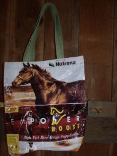 - Feed Bag tote with nylon handles. Going to make one of these nifty little buggers for miss @Wendy Appel Lee!