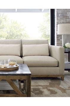 Taraval Apartment Sofa With Oak Base   Crate And Barrel | Loveseats, Custom  Crates And Apartments