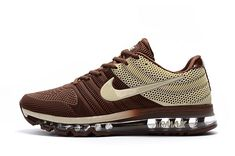 New Nike Air Max Running Shoes Sneakers Trainers Brown Beige - Release Achat Pas Cher, Prix : - Remise Chaussures Originales Nike Air Max 87, Nike Air Force, Nike Air Max Running, New Nike Air, Running Shoes For Men, Mens Running, Air Max Sneakers, Sneakers Mode, Sneakers Fashion