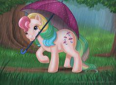 Parasol by hollowzero on DeviantArt New My Little Pony, My Little Pony Cartoon, My Little Pony Cupcakes, Cupcake Dolls, Under My Umbrella, Illustrations, History Museum, Rainbow Dash, Old Toys