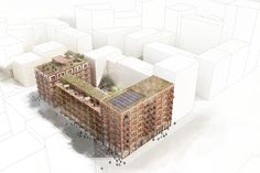 Gallery of White Arkitekter Wins Competition with Brick Housing Development in Stockholm Royal Seaport - 3